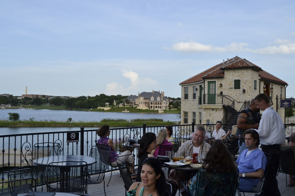 Harry's at the Harbor has beautiful patio overlooking the water.