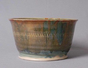 Bowl by local artist Melissa Caldwell for McKinney Empty Bowls.