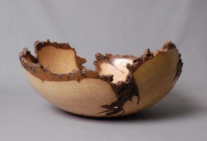 Bowl by local artist and woodturner JB Phipps for McKinney Empty Bowls.